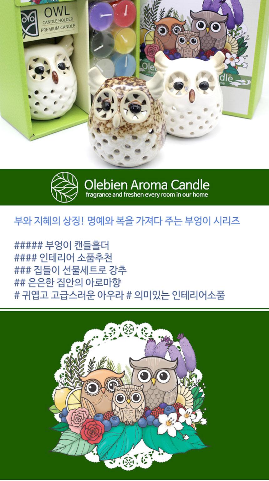 부엉이 캔들향초 선물세트 - 아로마샵, 15,000원, 캔들, 티라이트 캔들